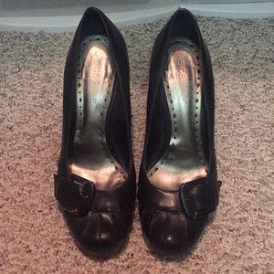 BCBG Girls black chunky heels shoes